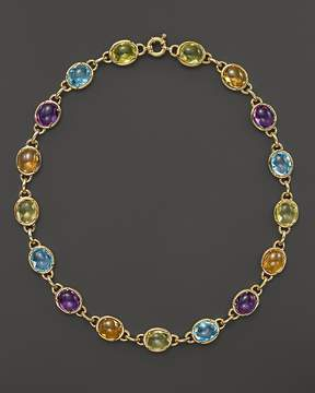 Bloomingdale's Amethyst, Blue Topaz, Citrine and Prasiolite Cabochon Necklace in 14K Yellow Gold, 16 - 100% Exclusive
