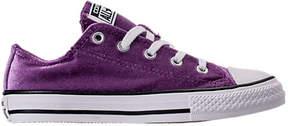 Converse Girls' Preschool Chuck Taylor Ox Velvet Casual Shoes
