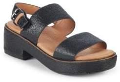 Gentle Souls Talia Block Heel Leather Sandals