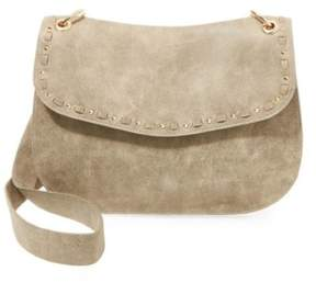 Steve Madden Womens Sanders Studded Lining Saddle Handbag
