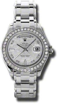 Rolex Day-Date Masterpiece Meteorite Automatic Platinum Pearlmaster Ladies Watch
