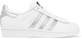 adidas Originals - Superstar Metallic-trimmed Leather Sneakers - White