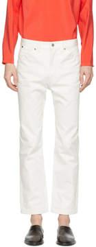 Lemaire White Five-Pocket Straight-Leg Jeans