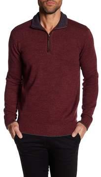 Robert Graham Stand Up Collar Quarter Zip Down Pull Over Sweater