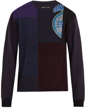 Longjourney Nash cotton-patchwork sweatshirt