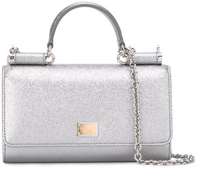 Dolce & Gabbana mini Von wallet crossbody bag - METALLIC - STYLE