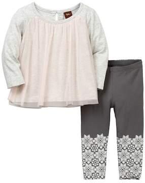 Tea Collection Mackenzie Top & Leggings Set (Baby Girls)