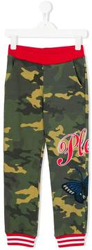 Philipp Plein Junior camouflage print track pants