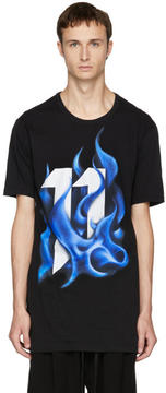 11 By Boris Bidjan Saberi Black Logo Flame T-Shirt