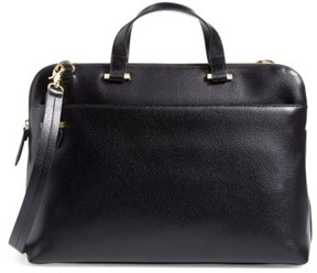 Lodis Medium Jamie Rfid Leather Briefcase - Black