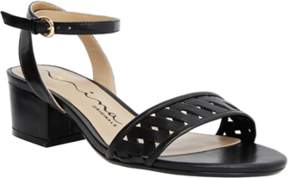 Nina Originals Visa Ankle Strap Mid Block Heeled Sandal.