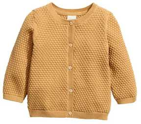 H&M Textured-knit Cotton Cardigan