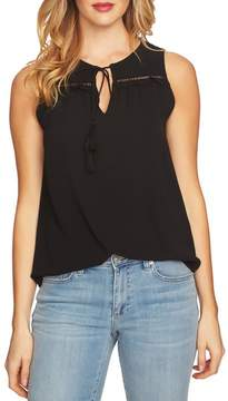 CeCe Sleeveless Tie Front Blouse