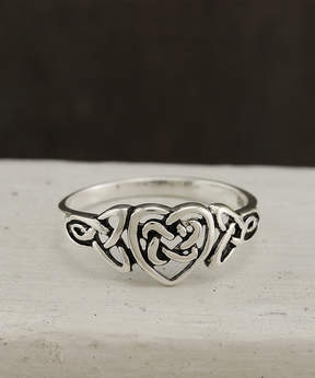 Celtic Sterling Silver Heart Ring
