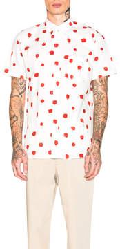 Comme des Garcons Cotton Poplin Printed Shirt