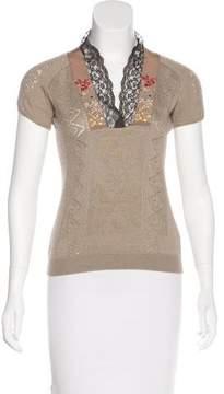Christian Lacroix Cashmere & Wool-Blend Top