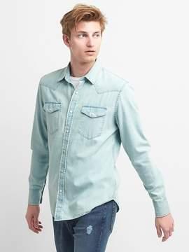 Gap Slim Fit Western Denim Shirt