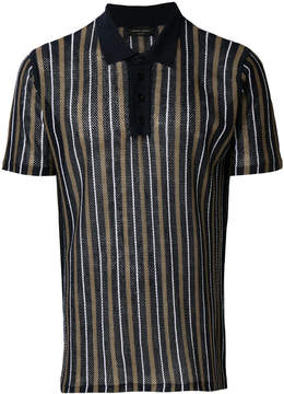 Roberto Collina knitted striped polo shirt