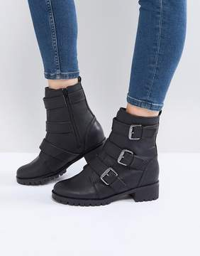 Call it SPRING Laoniel Buckle Biker Boots