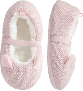 Joe Fresh Toddler Girls' Crochet Slippers, Pink (Size S)