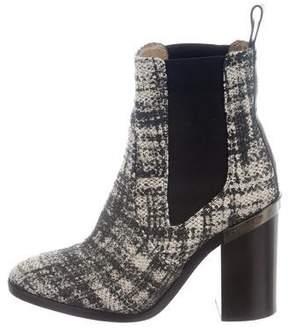 Reed Krakoff Distressed Tweed Boots