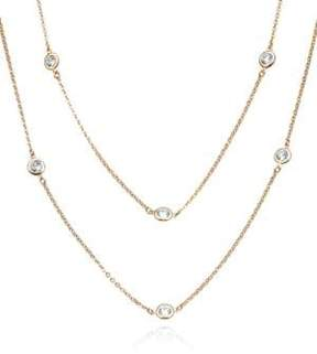 Crislu Rose Gold Update Crystal DBY Necklace, 36 in