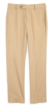Nordstrom Boy's Elliott Slim Fit Flat Front Trousers