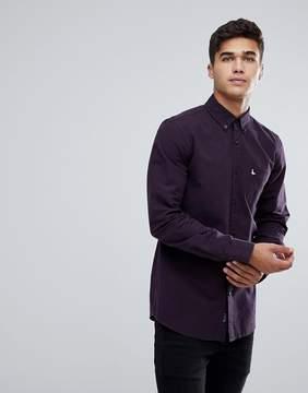 Jack Wills Wadsworth Oxford Plain Shirt In Plum