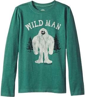 Life is Good Wild Man Long Sleeve Crusher Tee Boy's T Shirt