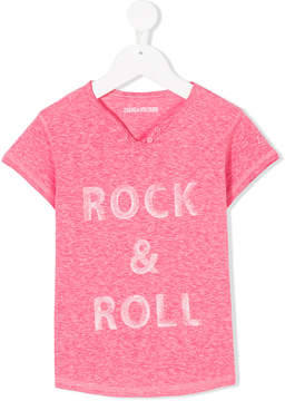 Zadig & Voltaire Kids rock & roll T-shirt