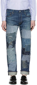 Junya Watanabe Indigo Levis Edition Patch Jeans