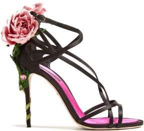 Dolce & Gabbana Rose-heel satin sandals