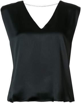 Amiri V chain back blouse