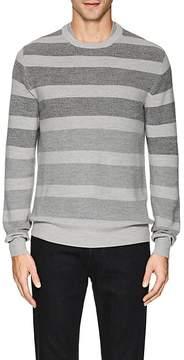 Loro Piana Men's Striped Rib-Knit Wool-Blend Sweater