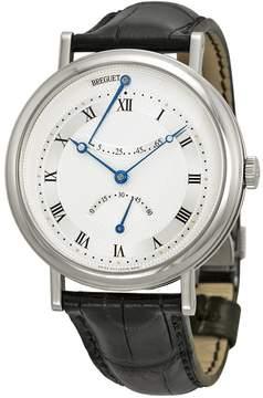 Breguet Classique Automatic Ultra Slim Silver Dial Black Leather Men's Watch