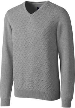 Cutter & Buck Gray Long-Sleeve V-Neck Sweater - Men