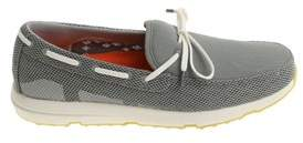 Swims Men's Grey Fabric Loafers.
