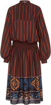 Stella Jean Smocked Waist Striped Dress