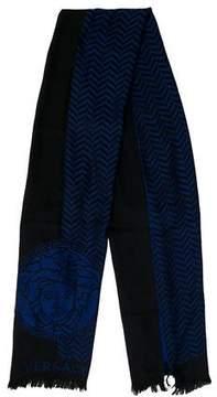 Versace Medusa Intarsia Wool Scarf