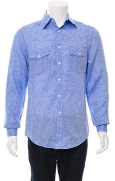 Michael Bastian Woven Button-Up Shirt