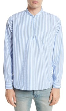 Our Legacy Men's Shawl Collar Quarter Zip Shirt