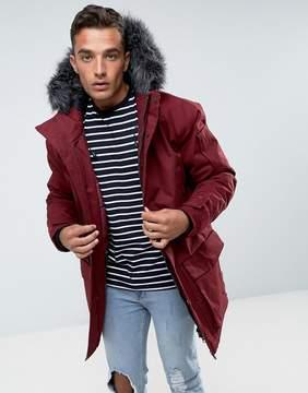 Bellfield Parka With Faux Fur Hood