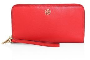 Tory Burch Parker Zip Leather Continental Wallet - CARDAMOM - STYLE