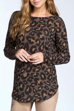 Cherish Leopard Open Back Sweater