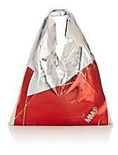 MM6 MAISON MARGIELA Women's Metallic-Coated Canvas Triangle Bag-Silver