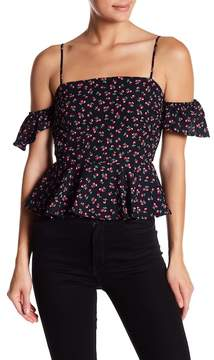 Dee Elly Printed Off Shoulder Top