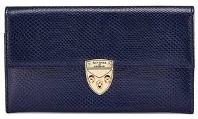 Aspinal of London | Mayfair Purse In Midnight Blue Lizard | Midnight blue lizard