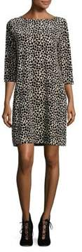Joan Vass Leopard Shift Dress