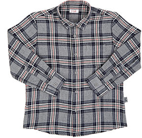 Il Gufo Plaid Cotton Herringbone-Weave Shirt