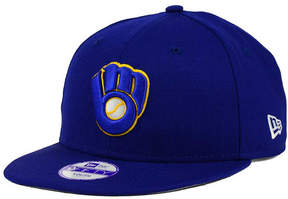 New Era Boys' Milwaukee Brewers Major Wool 9FIFTY Snapback Cap
